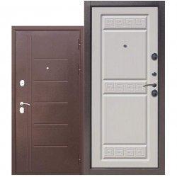 Входная дверь Троя 10 см Антик Венге белая