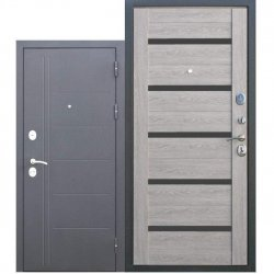Входная дверь 10 см Троя Серебро Дымчатый Дуб