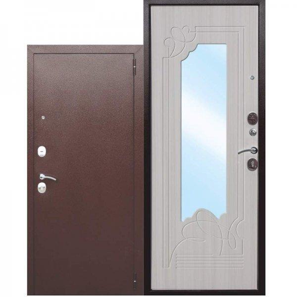 Входная дверь Ampir белый ясень