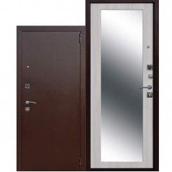 Входная дверь Царское зеркало Maxi белый ясень