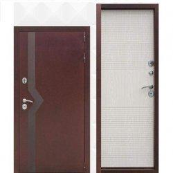 Входная дверь ISOTERMA Медный Антик внутренняя беленый дуб