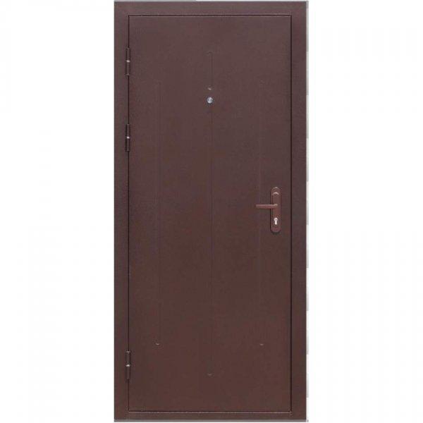 Входная дверь Стройгост 7-1 металл/металл ручка на планке