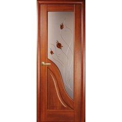 """Дверний блок Новий Стиль """"Амата Р1"""", 800, каштан, праві"""