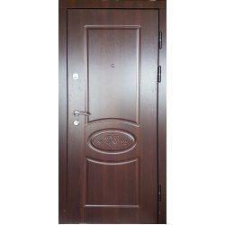 Вхідні двері К1016 Престиж горіх темний 68т-1