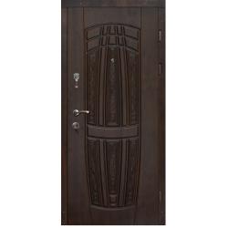 Двері вхідні Aplot, Vip, Грація, 960, лв, П 2002, ПВХ- 02 + патина чорна темна