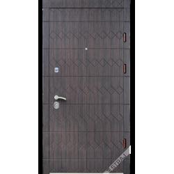 Вхідні двері СТРАЖ модель ''Антрацит 3D Prestige''