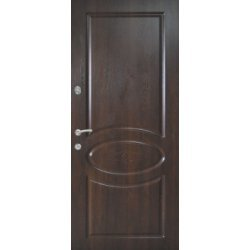Вхідні двері 870 P128 Горіх темний