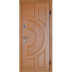 Двері вхідні Класік+ м 8, Ліві, О, 2050, 860, дуб зол мат, дуб зол мат, D10