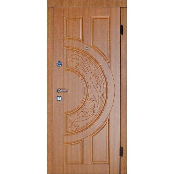 Двері вхідні Класік В 9, Ліві, О, 2050, 960, дуб зол він, дуб зол мат, D-10