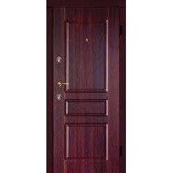 Двері вхідні Фабрика м 9, Праві, С, 2050, 960, горіх темн мат, горіх темн мат, D161