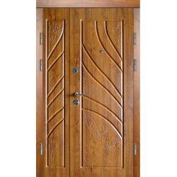 Двері вхідні Класік+ В 12, Праві, О, 2050, 1200, дуб темн він, горіх темн мат, Е 20