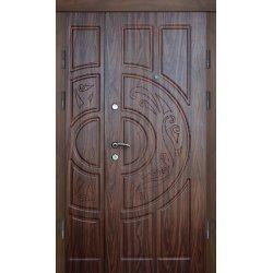 Двері вхідні Класік+ В 12, Ліві, О, 2050, 1200, дуб зол він, дуб зол мат, Е 5