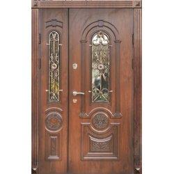 Двері вхідні Фабрика в 12 скло2, Ліві, Л, 2050, 1250, дуб зол він, дуб зол він, Z 47-2