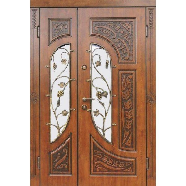 Двері вхідні Тренд в 12 скло2, Праві, Л, 2050, 1170, дуб зол він, дуб зол він, Z 58-2