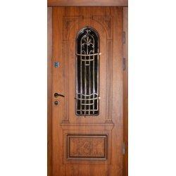 Двері вхідні Тренд в 9 скло, Праві, О, 2050, 970, дуб темн він, дуб темн він, Z 63