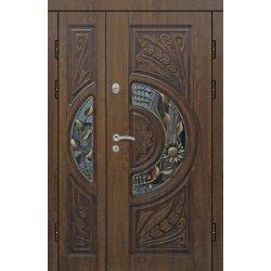 Вхідні двері 1200 П2 ПВХ-90 патина