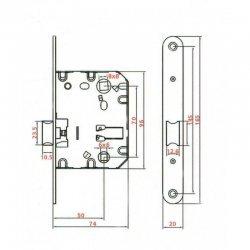 Механізм замка GR 85S-EC PB | Gavroсhe