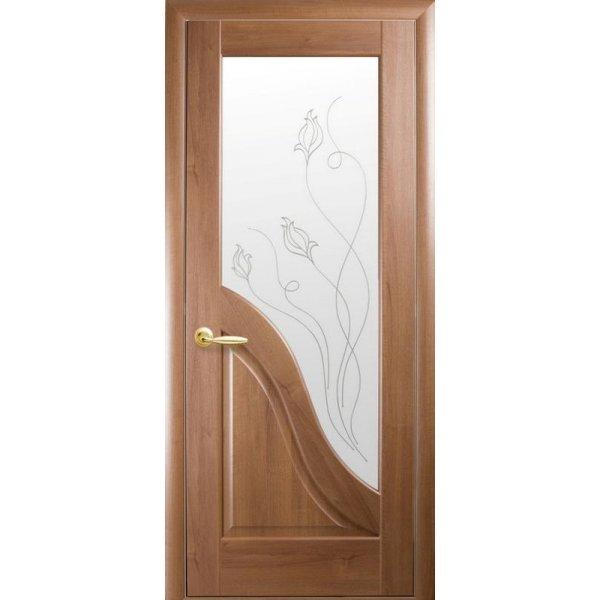 """Дверний блок   Новий Стиль """"Ескада Р2"""", 60, золота вільха, Лівий"""