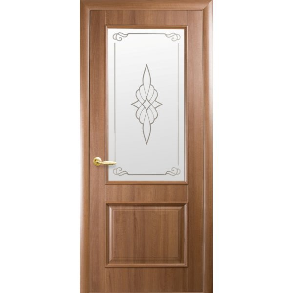 """Дверний блок  Новий Стиль """"ВІлла Р1"""", 60, золота вільха, Правий"""