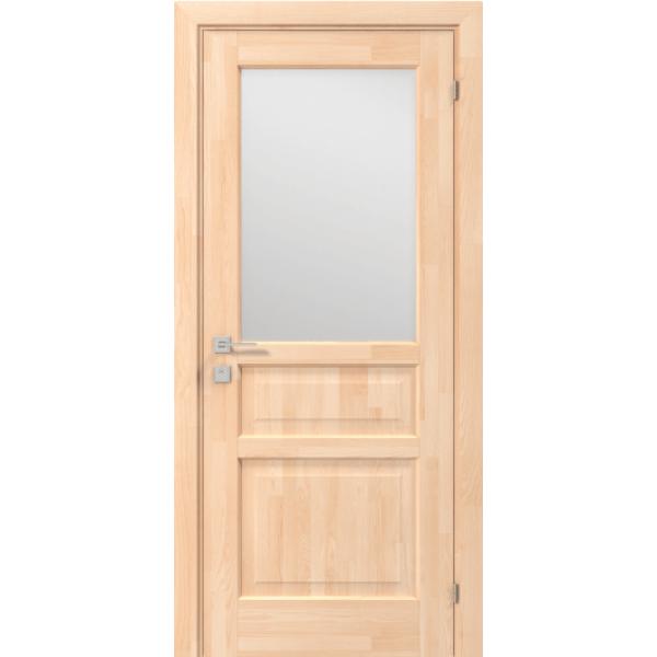 Дверне полотно Woodmix Praktic напівскло, без покриття, 800/2000/36, сатин малюнок 5
