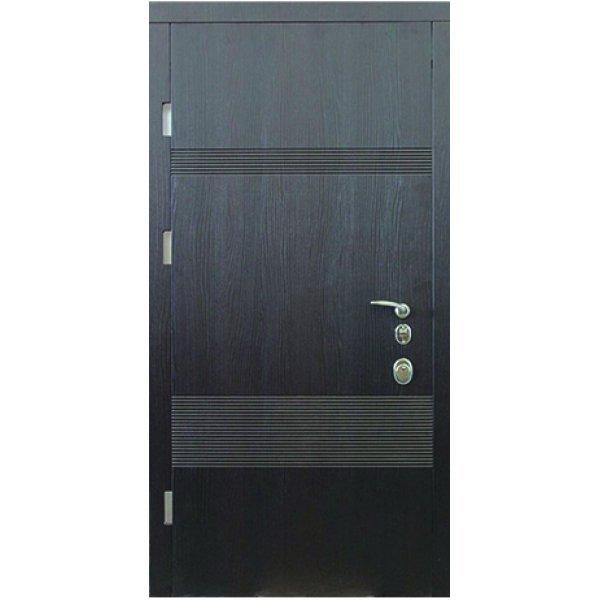 Двері вхідні W48 Венге шпон патина