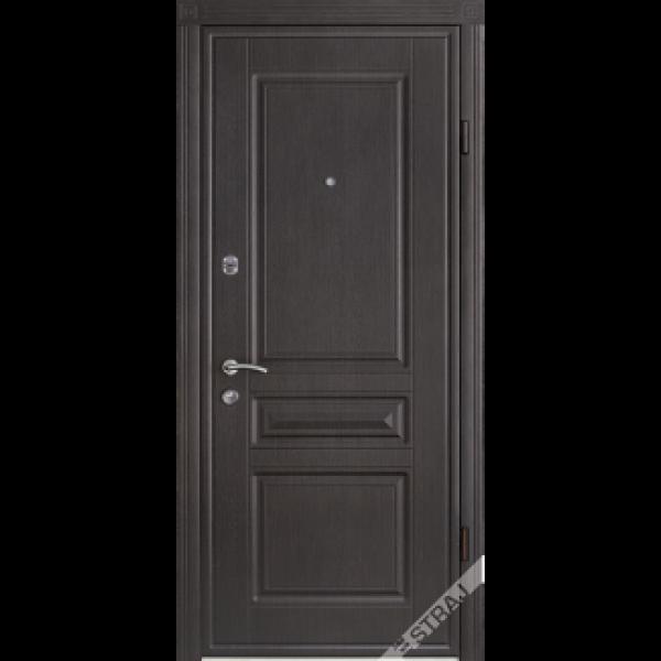 Двері вхідні Straj Standard, Праві, 850х2040, Горіх лісовий, Рубін