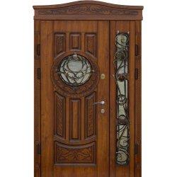 """Вхідні двері Термопласт+ """"Стандарт 90"""", 1170х2050, Ліві, 10, ПВХ-02, С/п+ковка"""