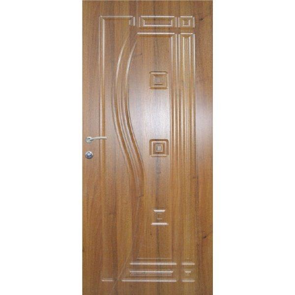 """Вхідні двері Термопласт+ """"Оптима"""", 970х2050, Праві, 130, Дуб золотий"""