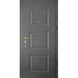 """Вхідні двері Термопласт+ """"Стандарт 90"""", 870х2050, Праві, 157, Горіх тиснений"""