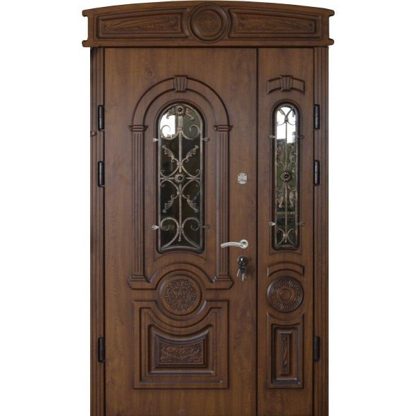 """Вхідні двері Термопласт+ """"Стандарт 90"""", 1170х2050, Ліві, 21, Ков.21, ПВХ-02"""