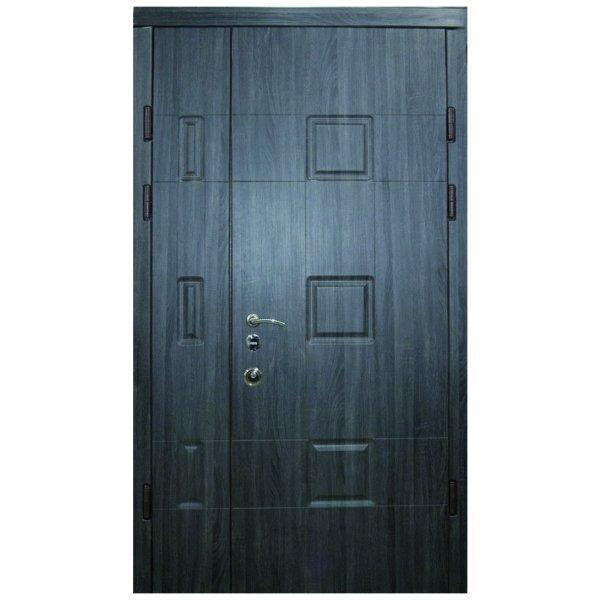 """Вхідні двері Термопласт+ """"Стандарт 90"""", 1170х2050, Праві, 43, ПВХ-23/горіх темний"""
