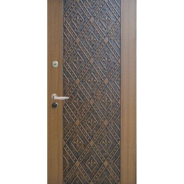"""Вхідні двері Термопласт+ """"Оптима"""", 970х2050, Праві, 92, ПВХ-90+патина"""