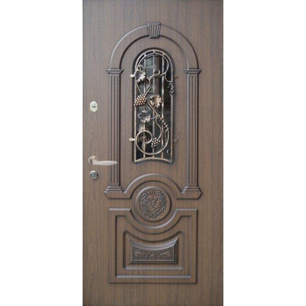 """Вхідні двері Термопласт+ """"Стандарт 90"""", 1170х2050, Ліві, 21, ПВХ-02"""